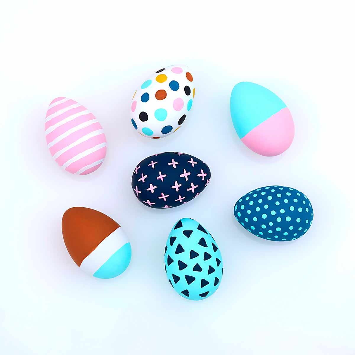 Memphis Inspired Easter Eggs   Project   Plaid Online