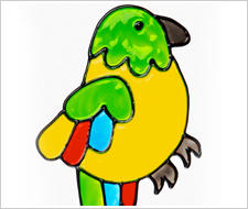 Gallery Glass Parrot Cling