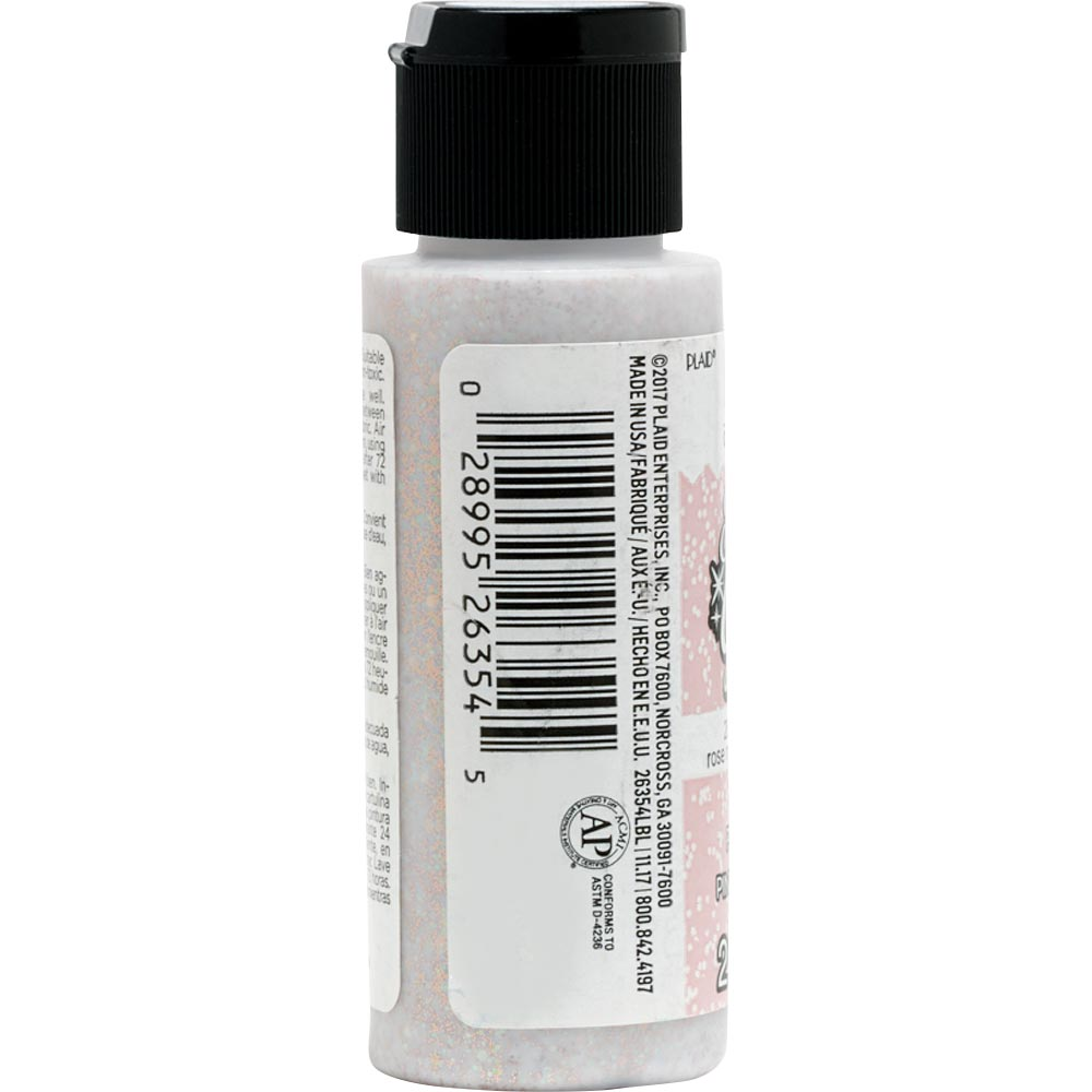Fabric Creations™ Fantasy Glitter™ Fabric Paint - Mystical Rose, 2 oz. - 26354
