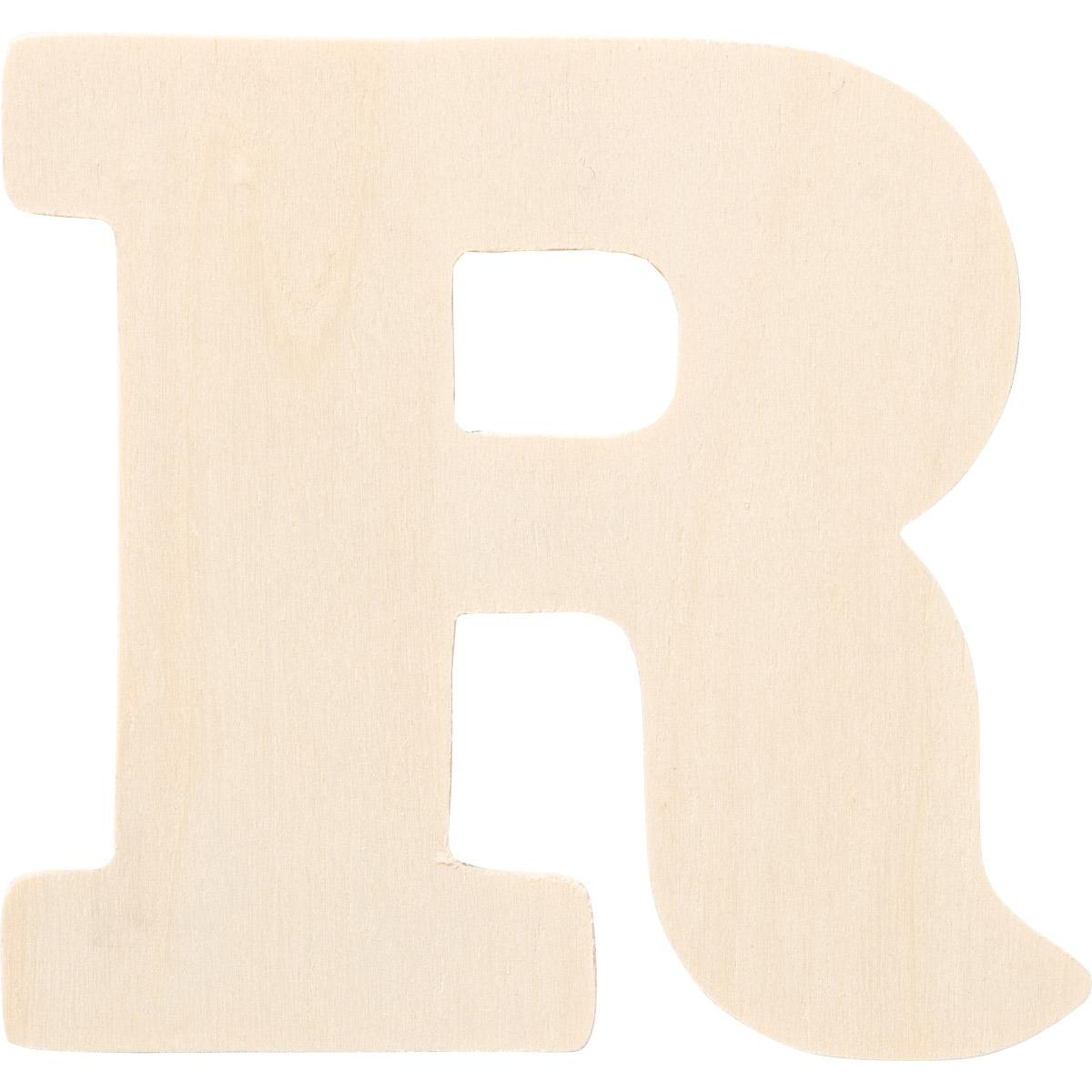 Plaid ® Painter's Palette™ Wood Letter - R. 4 inch - 23881