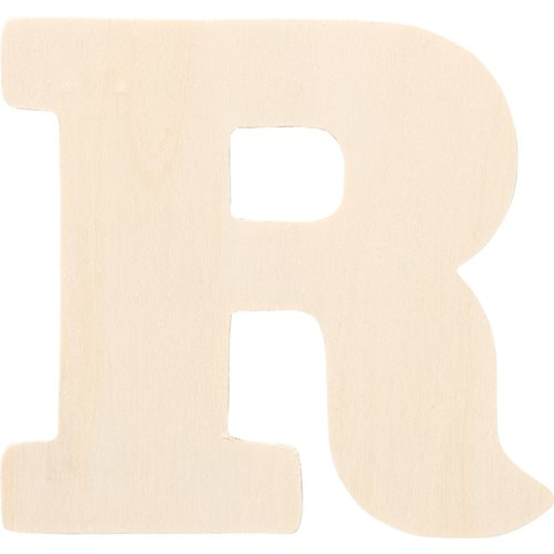 Plaid ® Painter's Palette™ Wood Letter - R. 4 inch - 23881