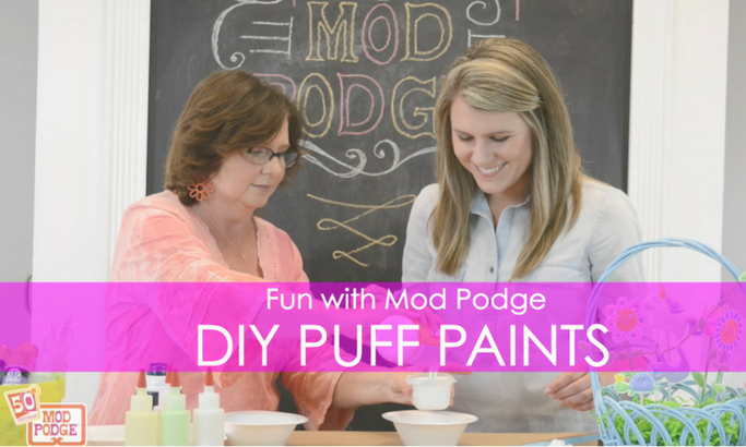 Make Your Own DIY PUFF PAINT with Mod Podge and Shaving Cream!
