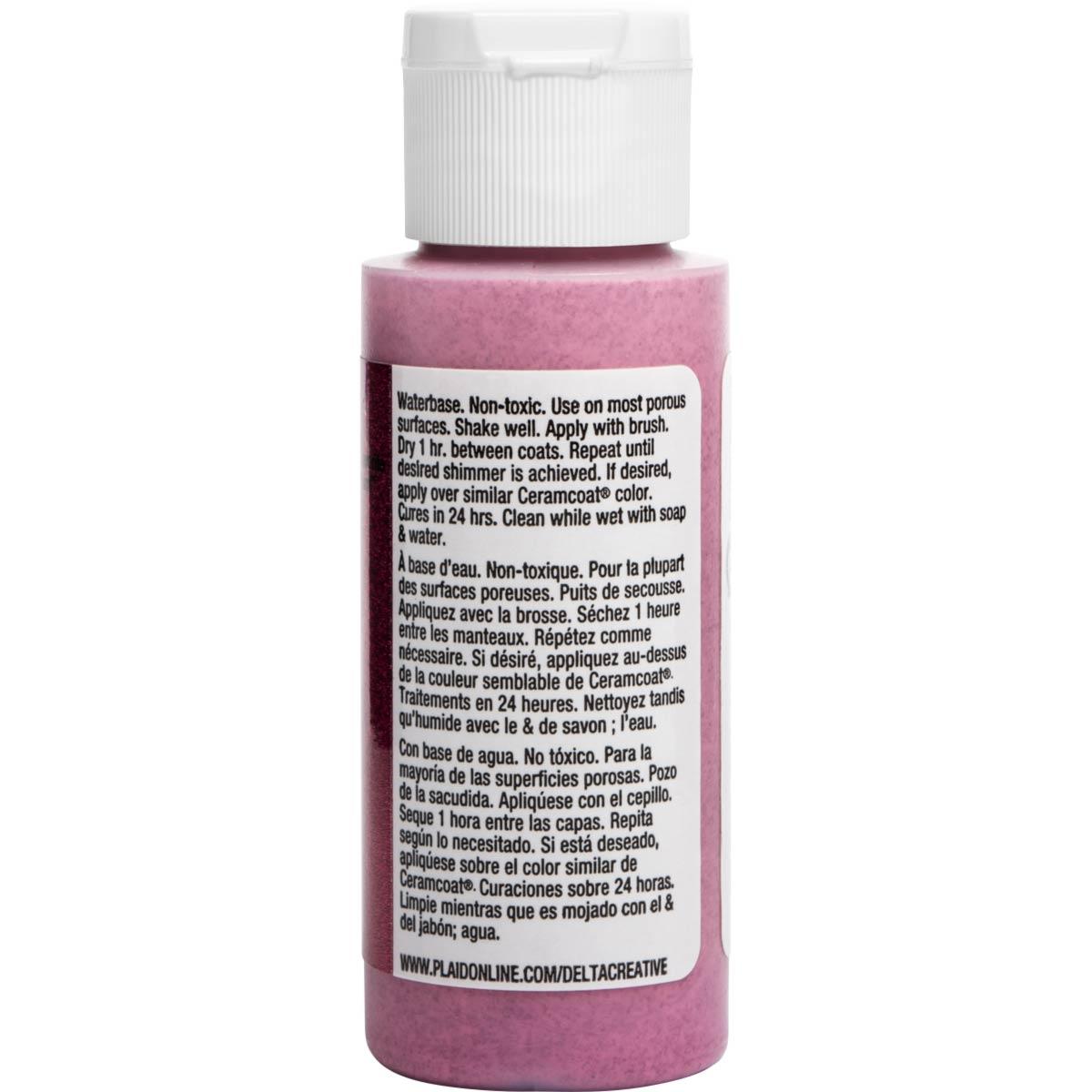 Delta Ceramcoat ® Acrylic Paint - Glitter Red, 2 oz. - 03003