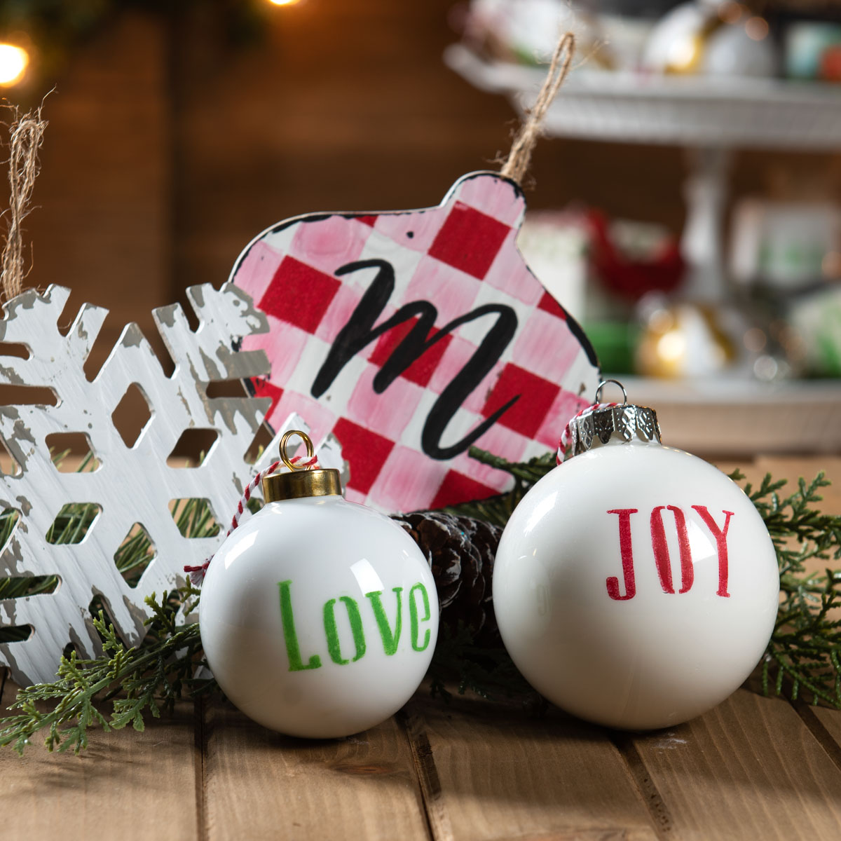 Holiday Tier Centerpiece - Ornaments