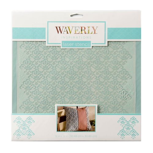 "Waverly ® Inspirations Laser Stencils - Décor - Scallop, 12"" x 12"""