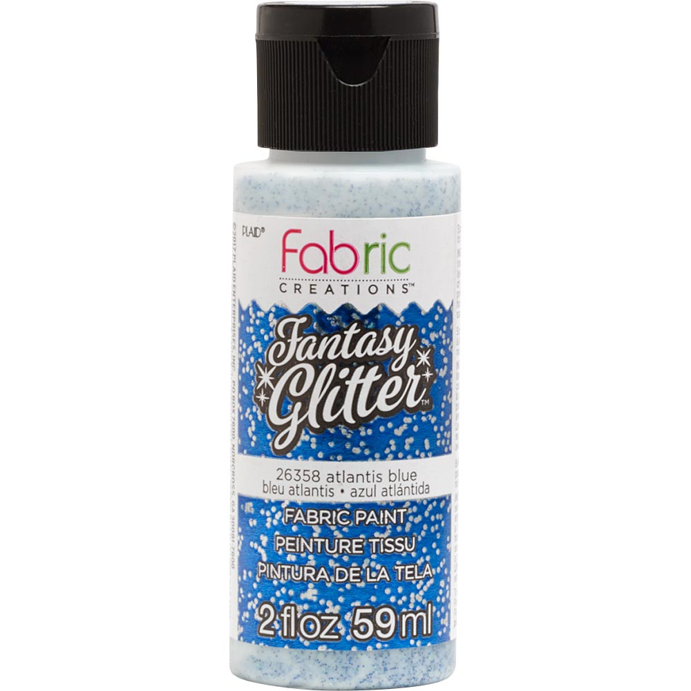 Fabric Creations™ Fantasy Glitter™ Fabric Paint - Altantis Blue, 2 oz. - 26358