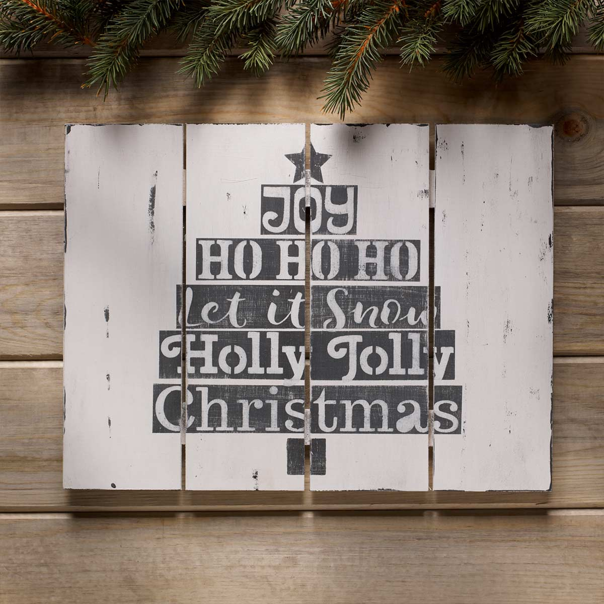 Stenciled Sign for Holidays