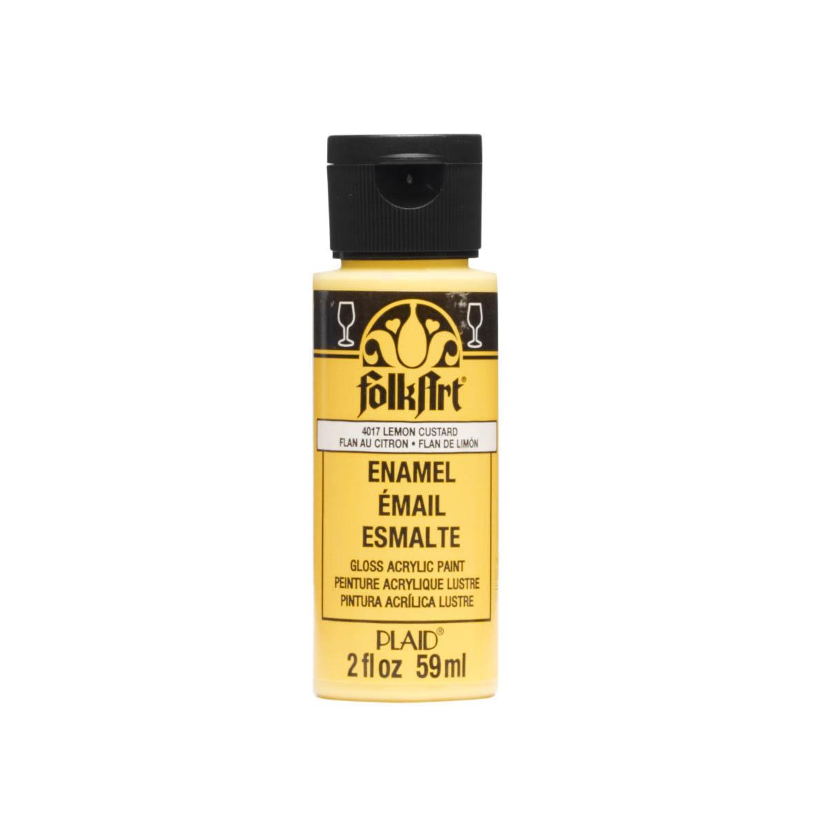FolkArt ® Enamels™ - Lemon Custard, 2 oz. - 4017