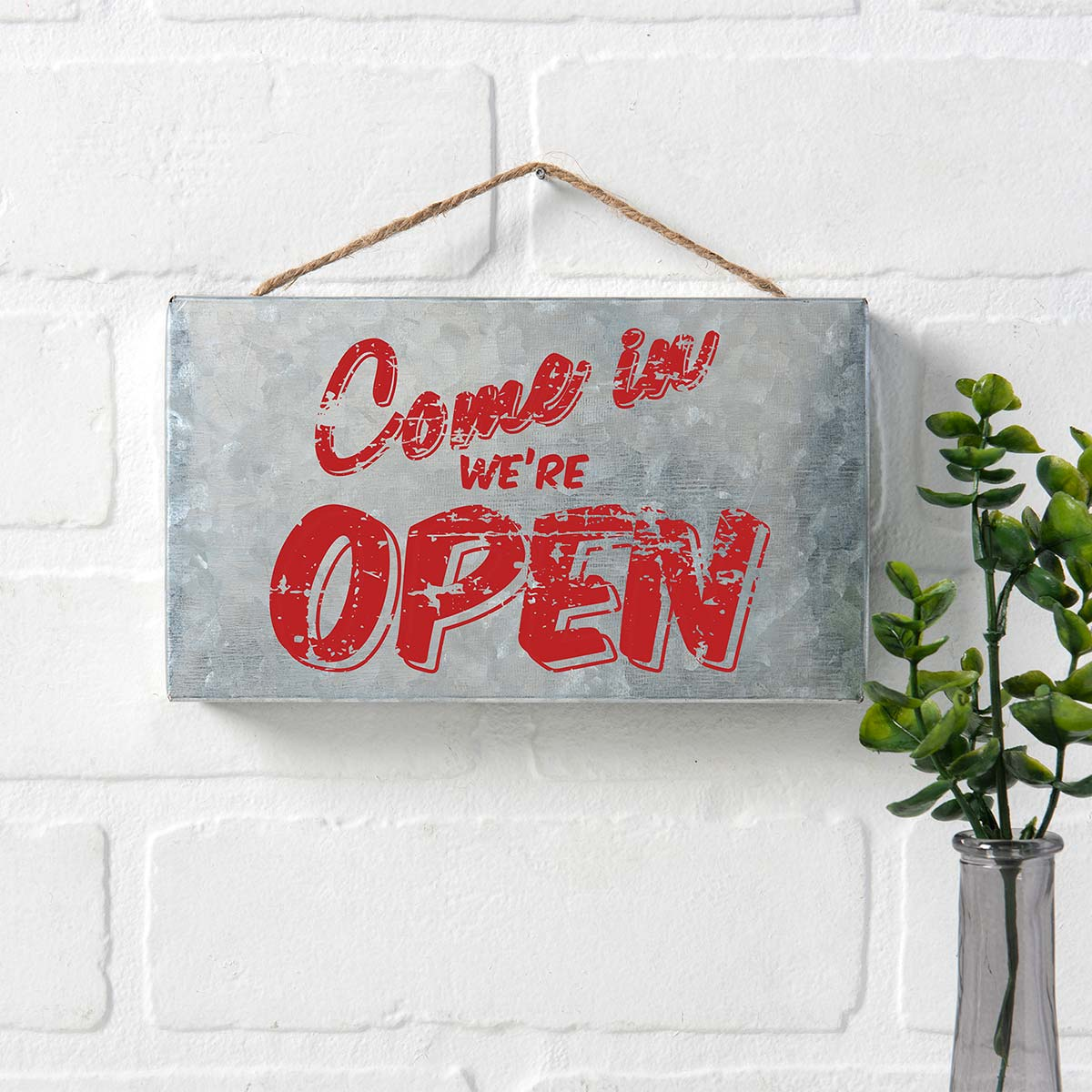 FolkArt ® Sign Shop™ Mesh Stencil - Open House, 2 pc. - 63376