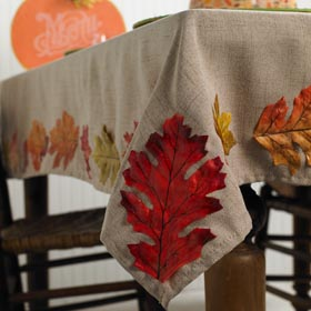 DIY Tablecloth for Fall