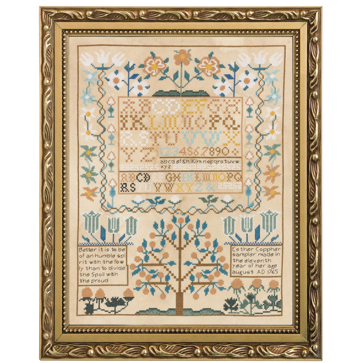 Bucilla ® Counted Cross Stitch - Smithsonian ® - Picture Kits - Esther Copp Sampler 1765