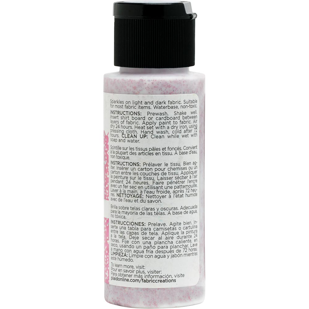 Fabric Creations™ Fantasy Glitter™ Fabric Paint - Pixie Pink, 2 oz.