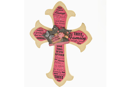 Classic Crown Family Cross
