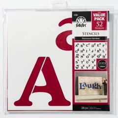 FolkArt ® Stencil Value Packs - Richmond Alphabet, 12