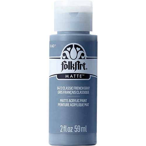 FolkArt ® Acrylic Colors - Classic French Gray, 2 oz. - 6472