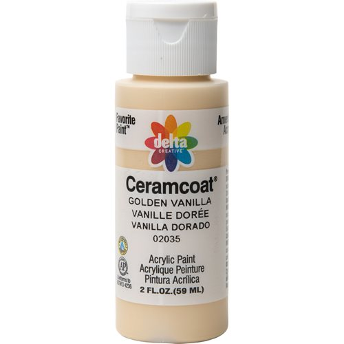 Delta Ceramcoat ® Acrylic Paint - Golden Vanilla, 2 oz.
