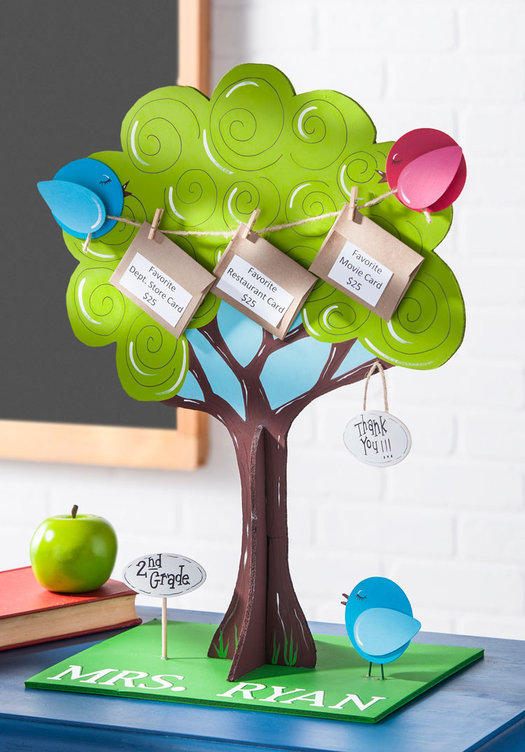 Gift card tree for teacher appreciation day project plaid online gift card tree for teacher appreciation day negle Choice Image