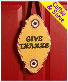 Give Thanks Door Hanging