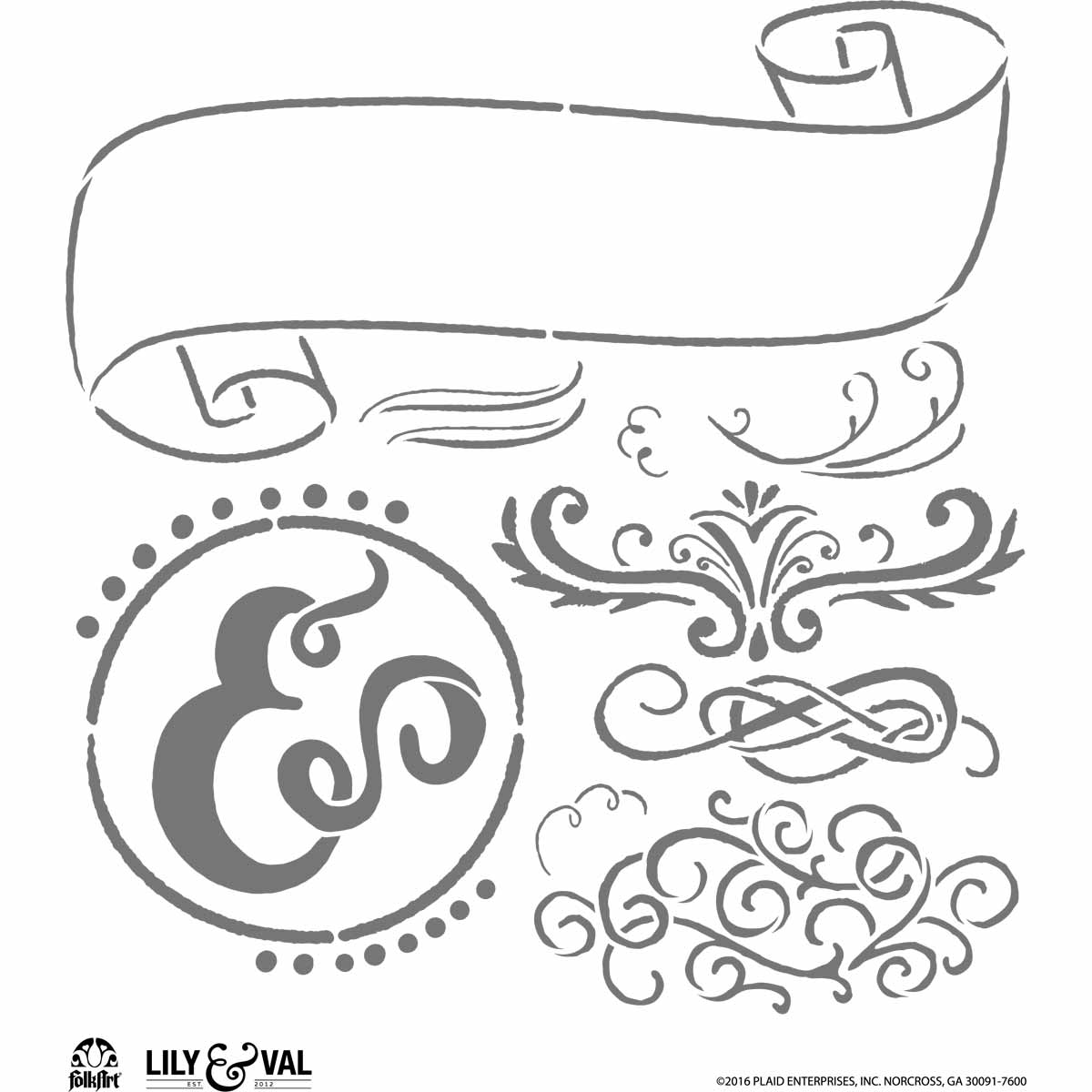 FolkArt ® Lily & Val™ Stencils - Variety Packs - Market Fresh