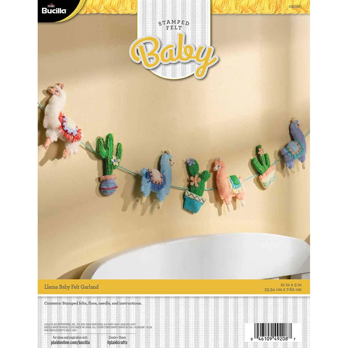 Bucilla ® Baby - Felt - Crib Ensembles - Llama Baby - Garland - 49208E