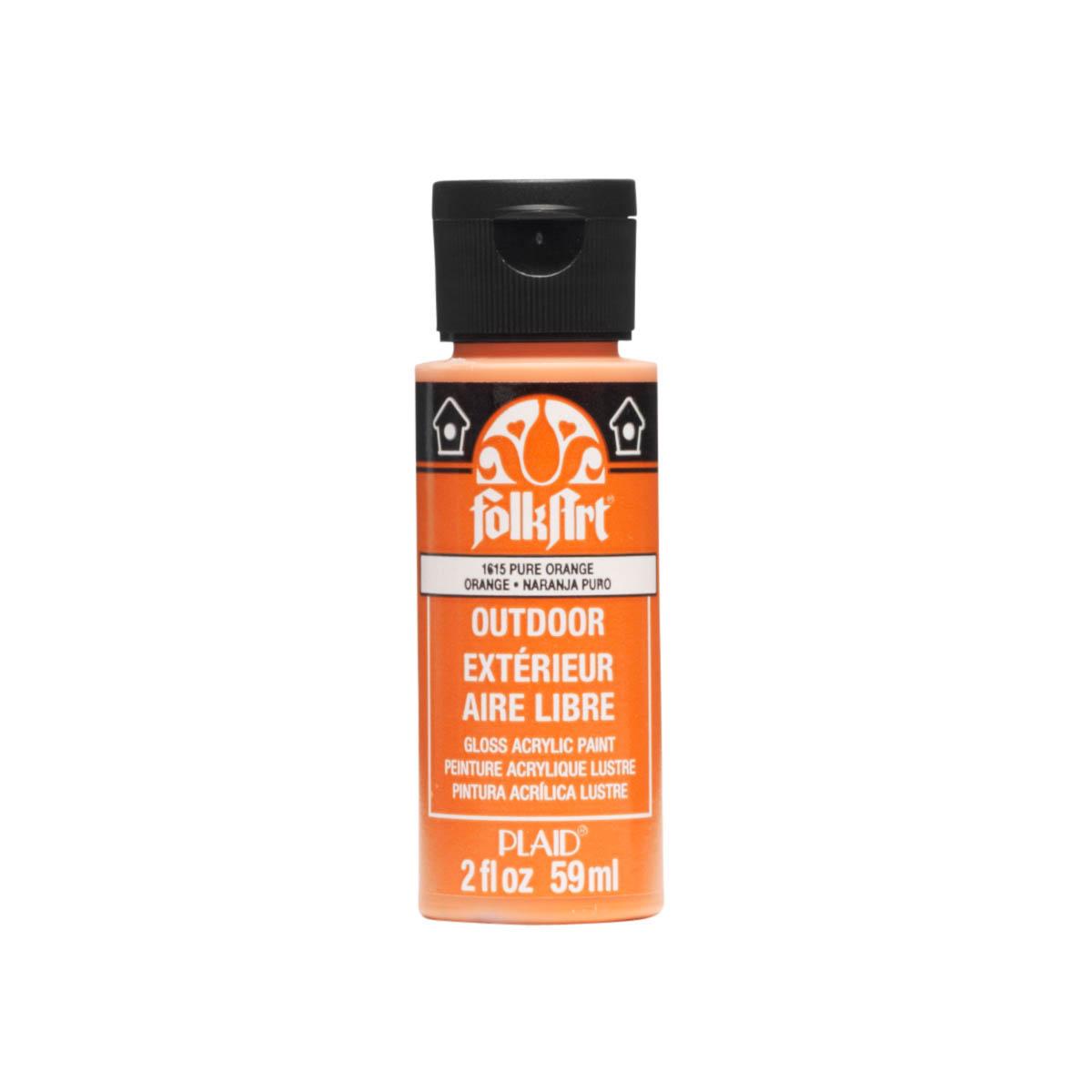 FolkArt ® Outdoor™ Acrylic Colors - Pure Orange, 2 oz. - 1615