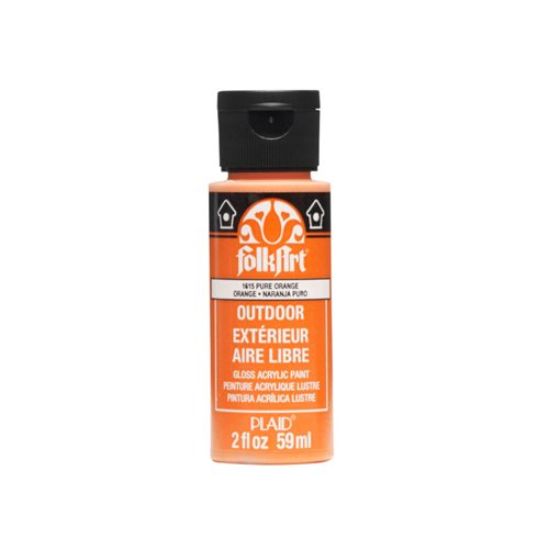 FolkArt ® Outdoor™ Acrylic Colors - Pure Orange, 2 oz.