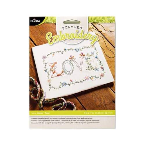 Bucilla ® Stamped Embroidery - Picture Kits - Love - 46276