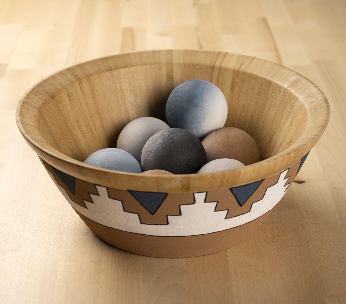 Terra Cotta Wooden Bowl