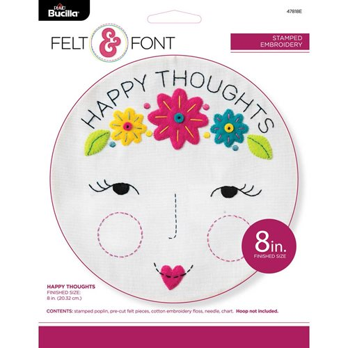 Bucilla ® My 1st Stitch™ - Stamped Cross Stitch Kits - Happy Thoughts - 47818E