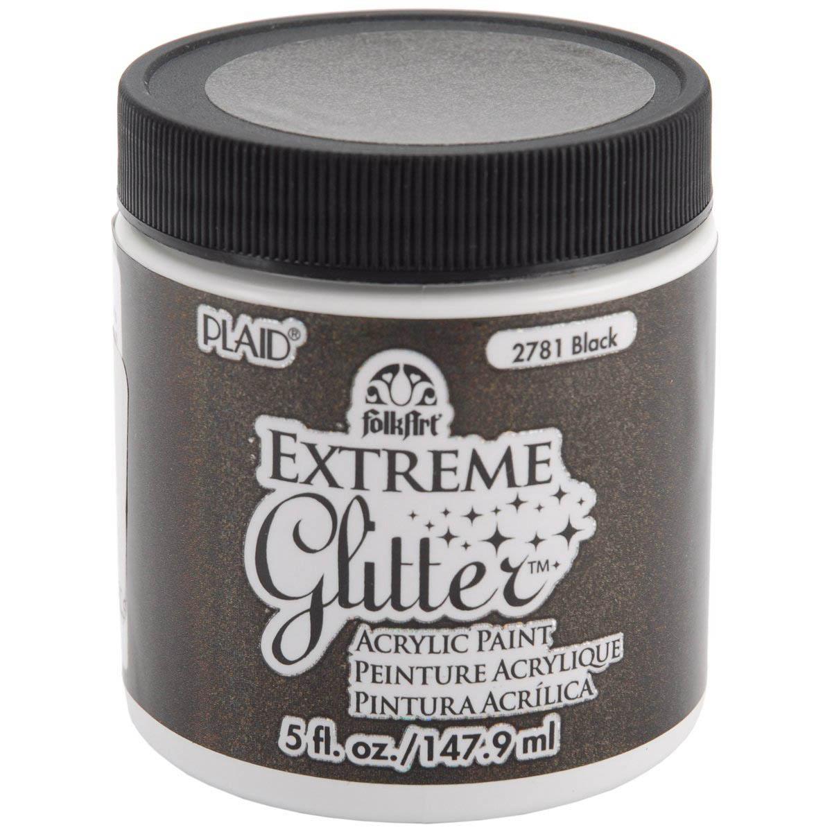 FolkArt ® Extreme Glitter™ - Black, 5 oz.