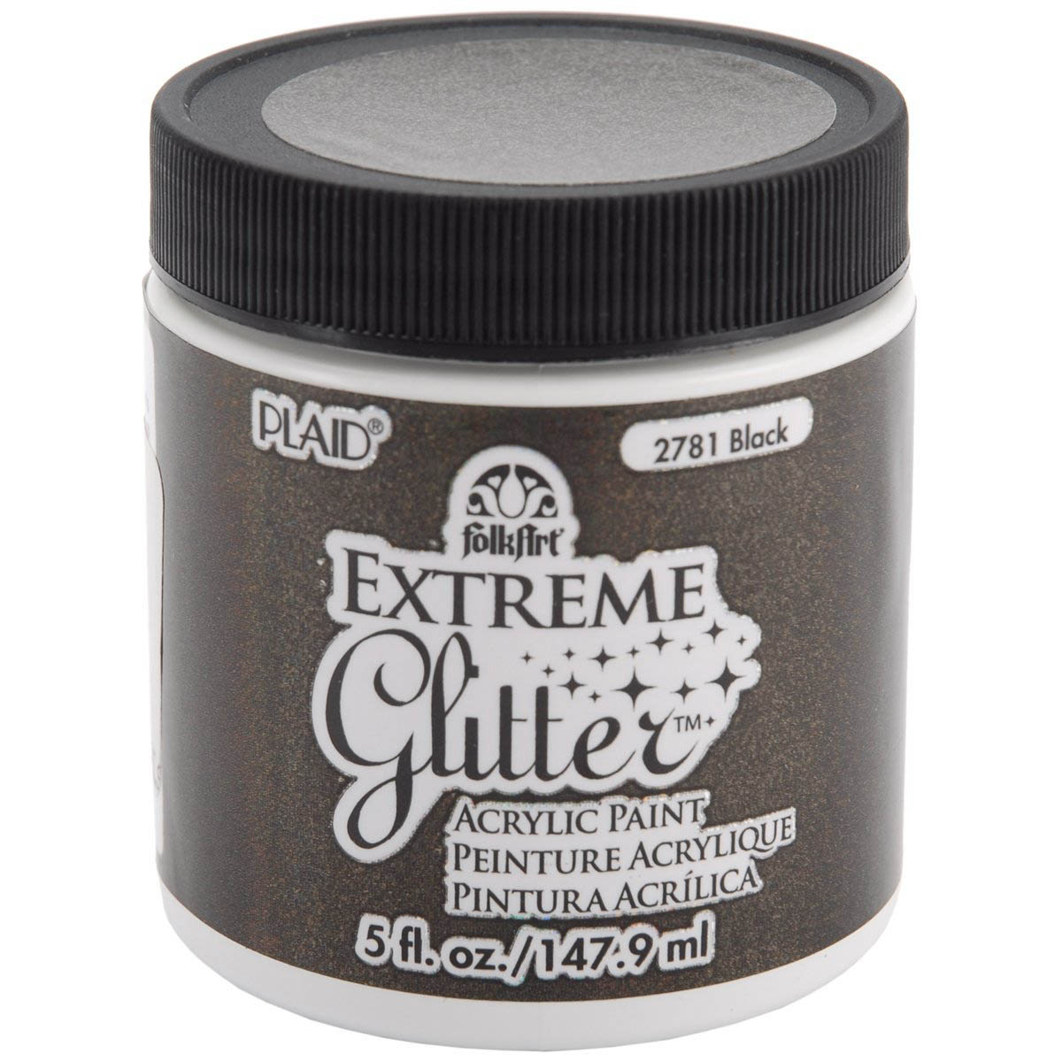 FA EXTREME GLITTER - BLACK  5 OZ.