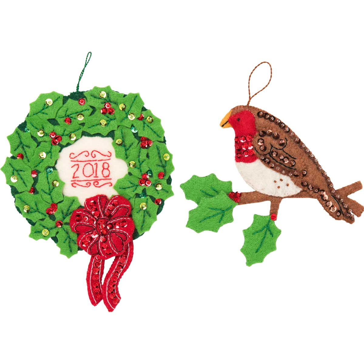 Bucilla Seasonal Felt Tree Trimmer Kit - Hallmark - 'Tis the Season