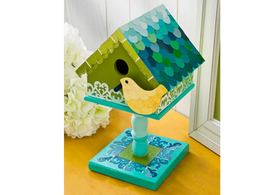 Mod Podge Paint Chip Birdhouse