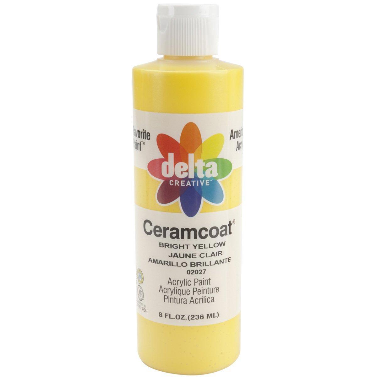 Delta Ceramcoat ® Acrylic Paint - Bright Yellow, 8 oz.
