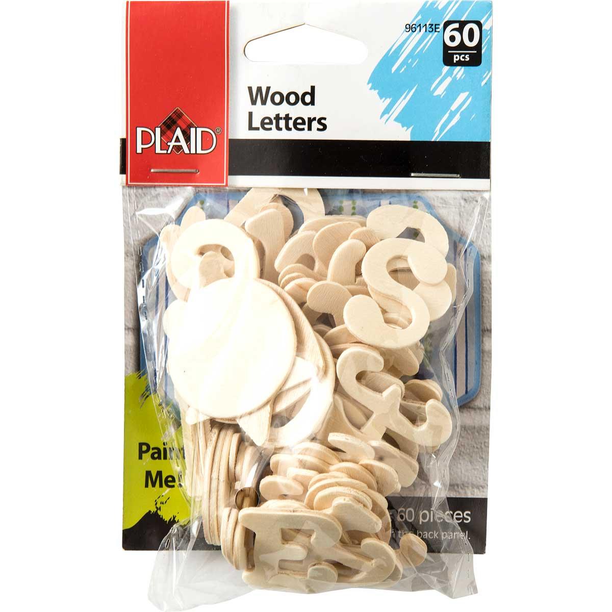Plaid ® Wood Surfaces - Letter Packs - Cursive - 96113