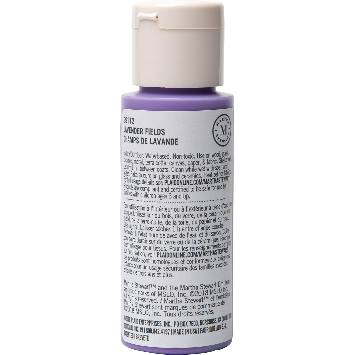 Martha Stewart ® Multi-Surface Satin Acrylic Craft Paint CPSIA - Lavender Fields, 2 oz. - 99112