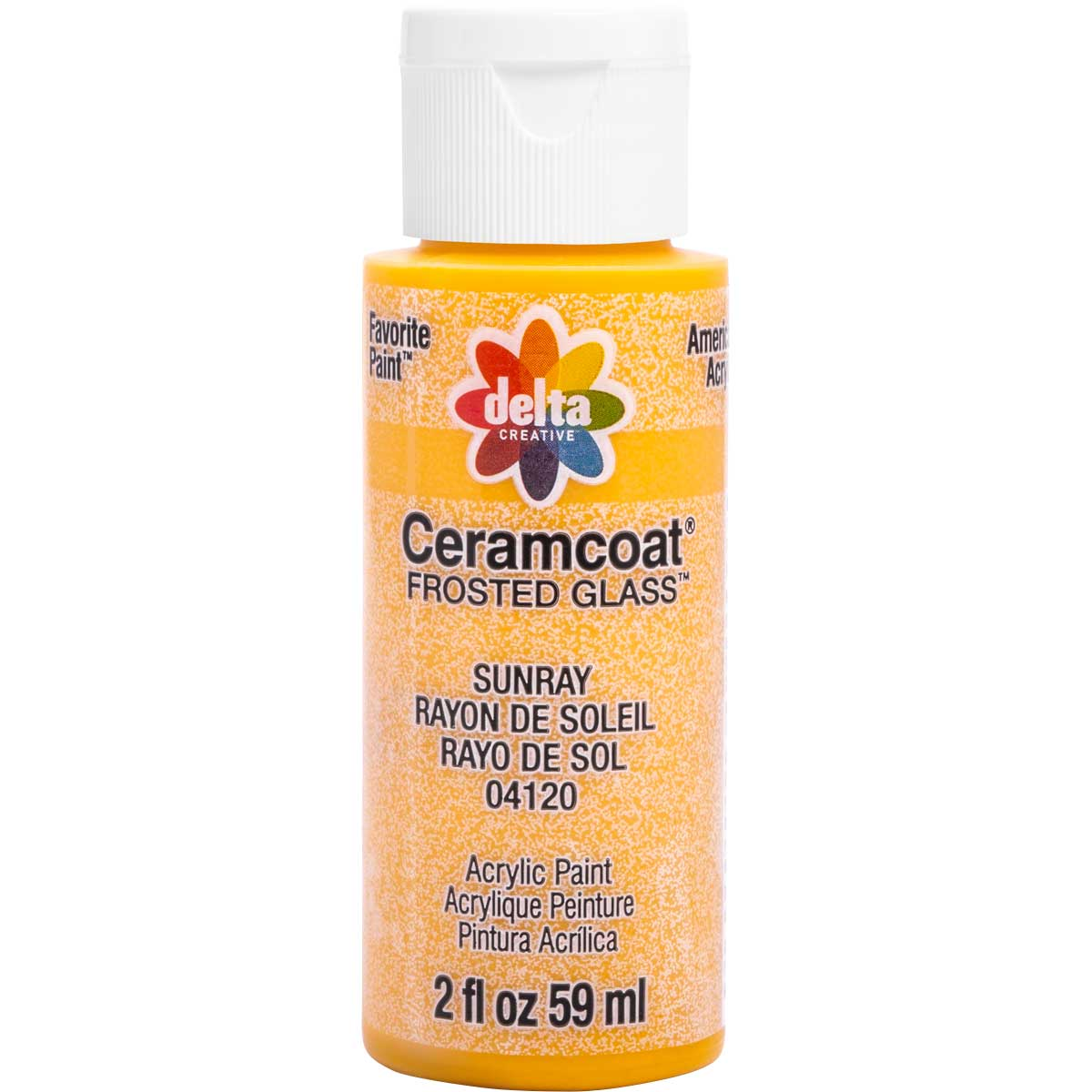 Delta Ceramcoat ® Frosted Glass Paint - Sunray, 2 oz. - 04120