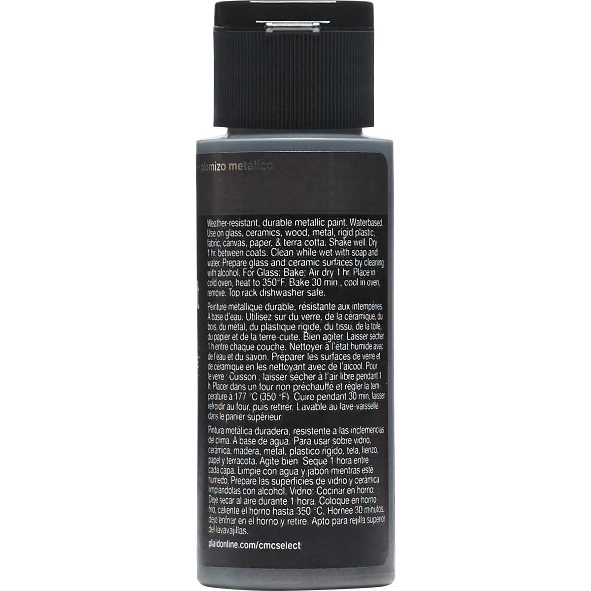 Delta Ceramcoat ® Select Multi-Surface Acrylic Paint - Metallic - Gunmetal, 2 oz. - 04113