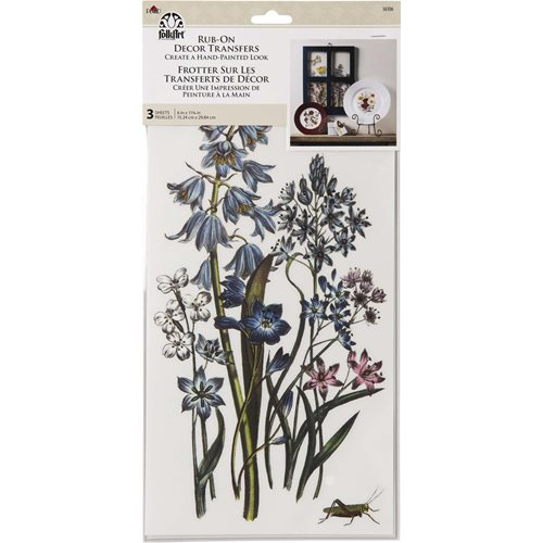 FolkArt ® Rub-On Décor Transfer - Botanical, 3 pc. - 36106