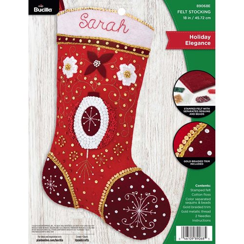 Bucilla ® Seasonal - Felt - Stocking Kits - Holiday Elegance - 89068E