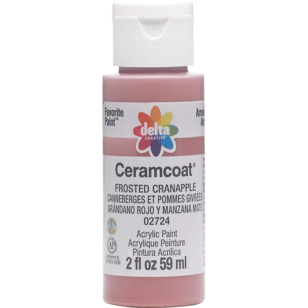 Delta Ceramcoat ® Acrylic Paint - Frosted Cranapple, 2 oz.