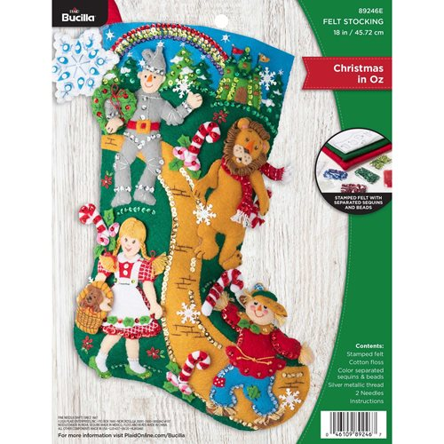 Bucilla ® Seasonal - Felt - Stocking Kits - Christmas in Oz - 89246E