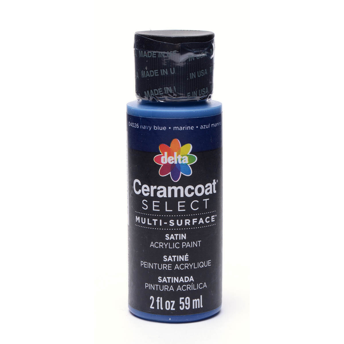 Delta Ceramcoat ® Select Multi-Surface Acrylic Paint - Satin - Navy Blue, 2 oz.
