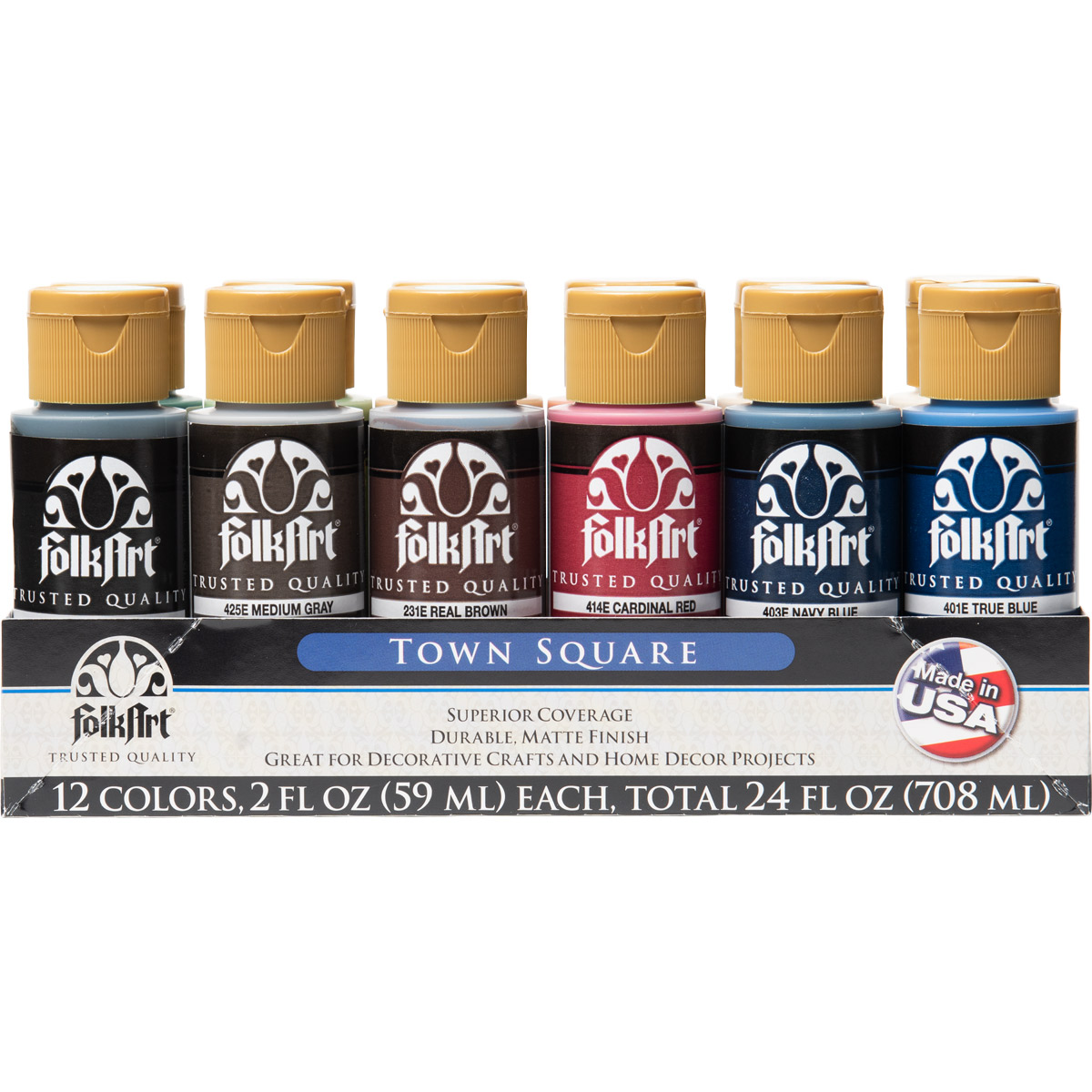 FolkArt ® Acrylic Colors Value Paint Set - Town Square, 12 Colors