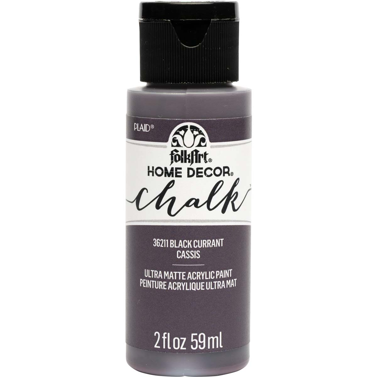 FolkArt Home Decor Chalk - Black Currant, 2 oz. - 36211