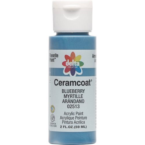 Delta Ceramcoat ® Acrylic Paint - Blueberry, 2 oz.