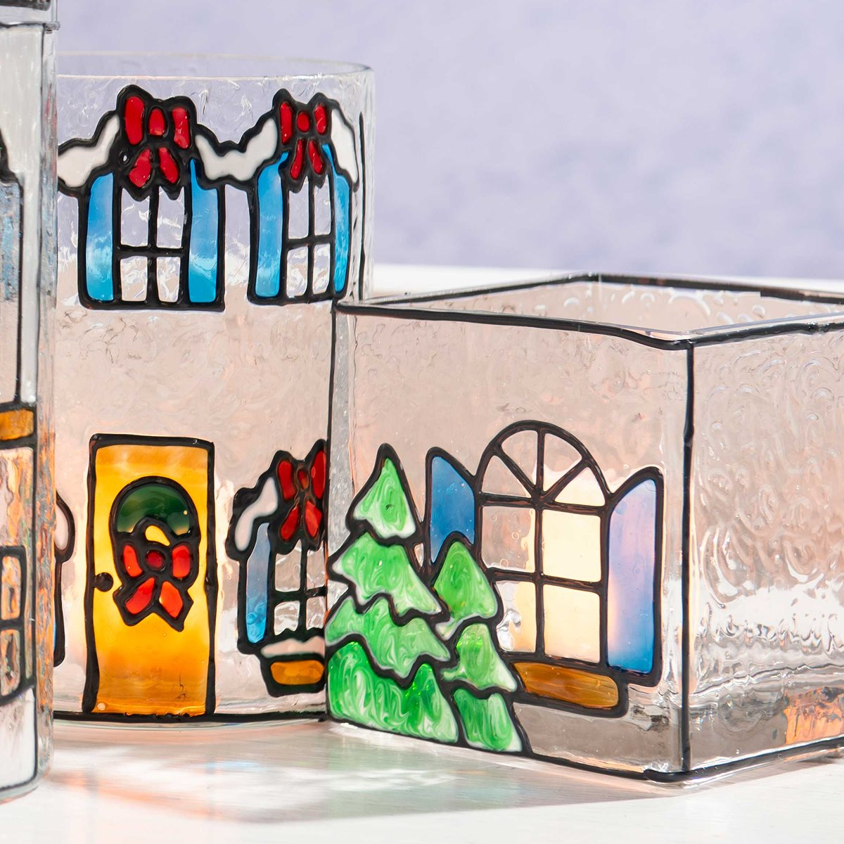 Christmas Village with Gallery Glass