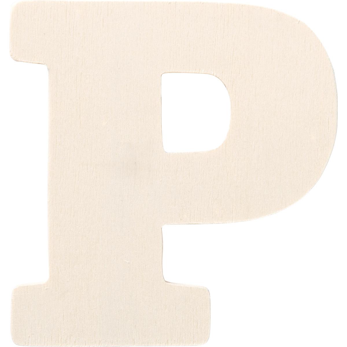 Plaid ® Painter's Palette™ Wood Letter - P. 4 inch