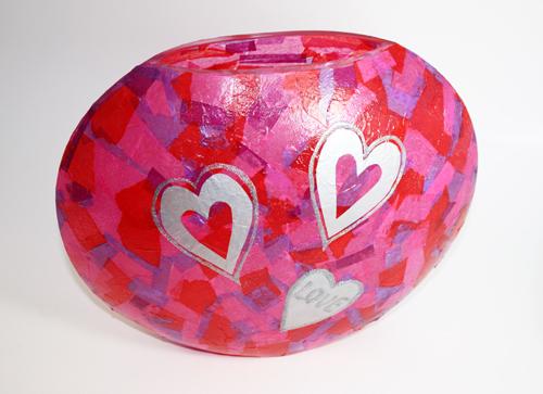 Tissue Paper Valentine Vase Project Plaid Online