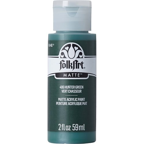 FolkArt ® Acrylic Colors - Hunter Green, 2 oz. - 406
